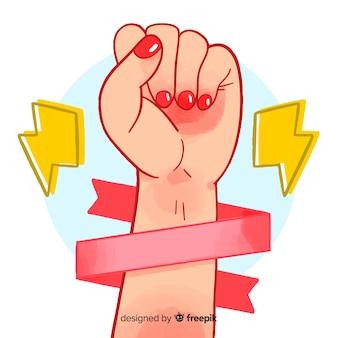 Simbolo del pugno della ragazza
