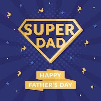 Simbolo del supereroe di concetto di festa del papà
