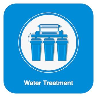Simbolo del trattamento delle acque