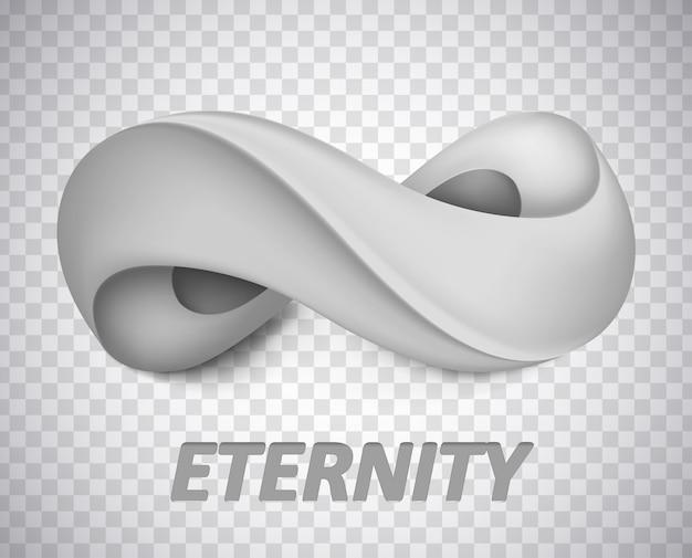 Simbolo dell'infinito. illustrazione isolata concept grafico per il tuo design