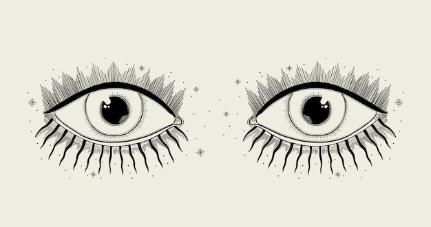 Simbolo dell'occhio vedente male.