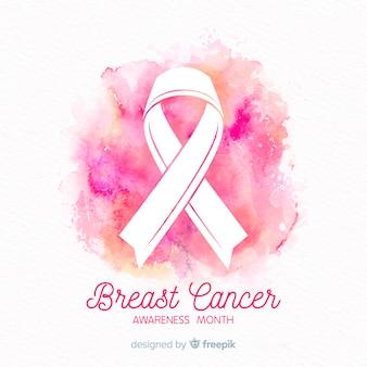 Simbolo della lotta contro il mese di sensibilizzazione sul cancro al seno