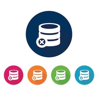 Simbolo di archiviazione. icona del database