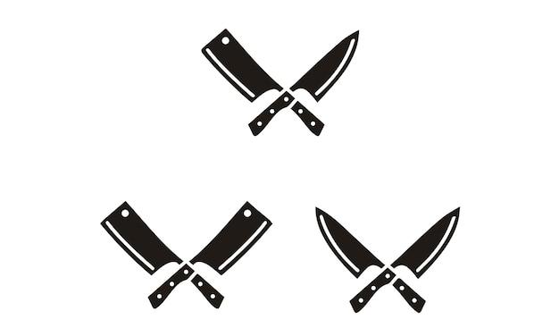 Simbolo di coltello e mannaia