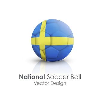 Simbolo di cuoio rotondo di calcio nazionale