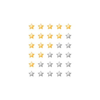Simbolo di feedback web a stelle