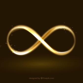 Simbolo di infinito con effetto incandescente