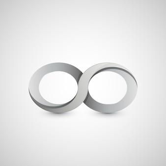 Simbolo di infinito, design grafico