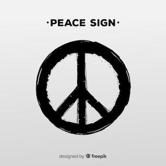 Simbolo di pace moderno con stile grunge