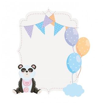 Simbolo e panda dell'acquazzone di bambino