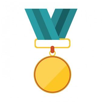 Simbolo in bianco del premio della medaglia