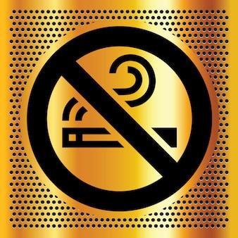 Simbolo non fumatori su un bronzo