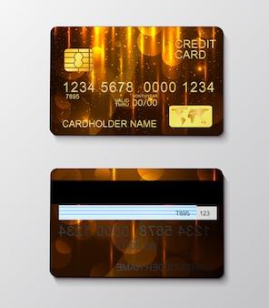 Simbolo realistico moderno di pagamento in denaro della carta di credito.