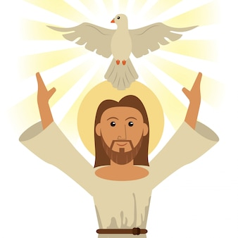 Simbolo religioso di gesù cristo spirito santo