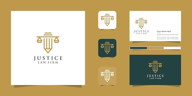 Simbolo studio legale, studio legale, servizi di avvocato, logo di lusso vintage stemma, logo vettoriale e cad di affari