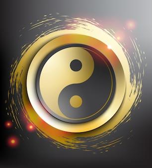 Simbolo yin yang. geometria sacra.