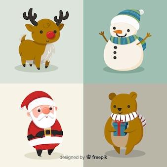 Simpatica collezione di personaggi natalizi