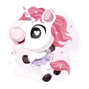 Simpatica gonna unicorno con personaggio unicorno