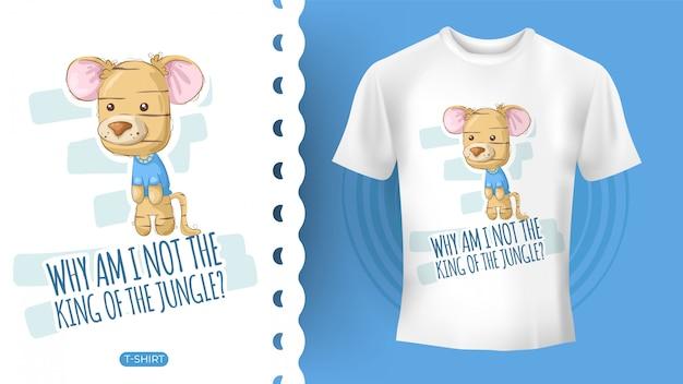 Simpatica idea di tigre per t-shirt