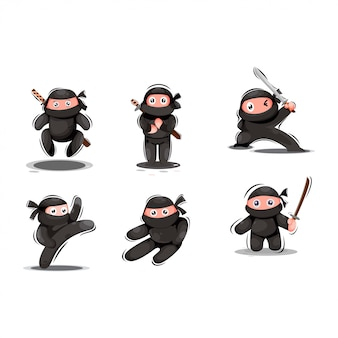Simpatica mascotte ninja