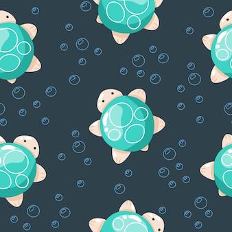 Simpatiche creature marine, illustrazioni disegnate a mano per i vestiti del bambino, tessile