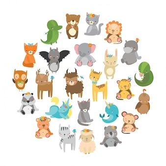 Simpatici animali da zoo