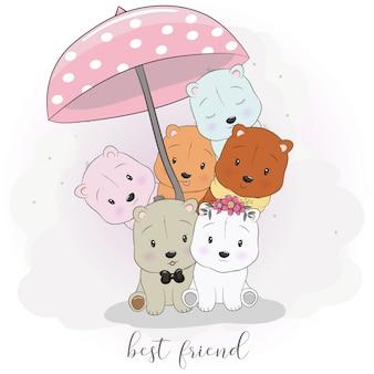 Simpatici animali del fumetto migliore amico