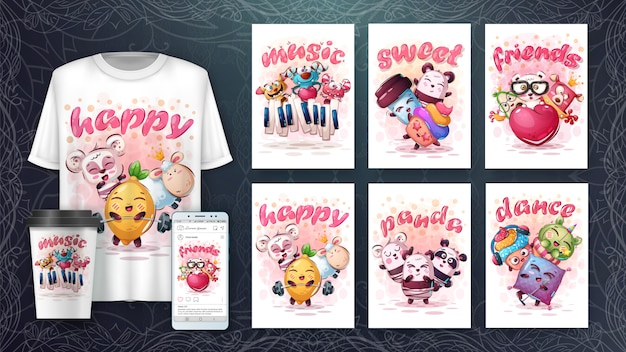 Simpatici animali - illustrazione e merchandising