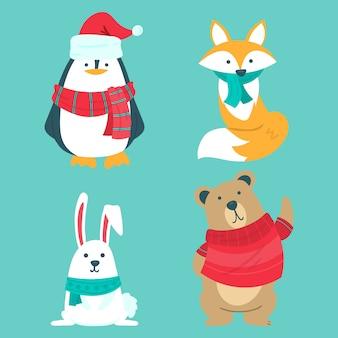 Simpatici animali invernali