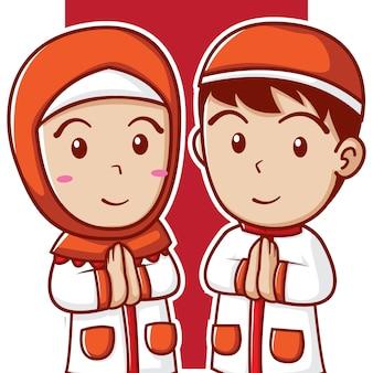Simpatici bambini musulmani