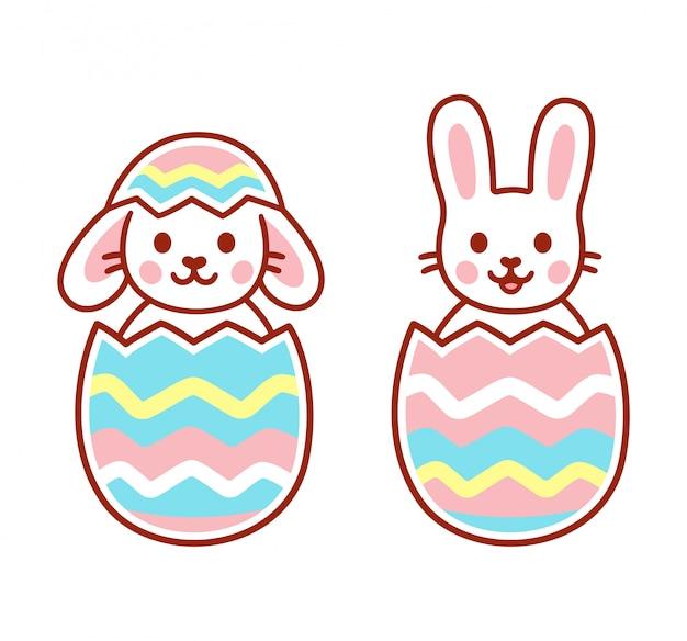Simpatici coniglietti pasquali