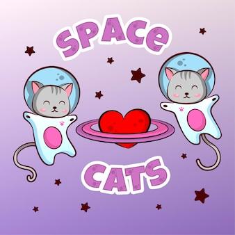 Simpatici gattini di astonauti