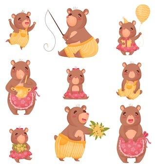 Simpatici orsi vestiti da persone