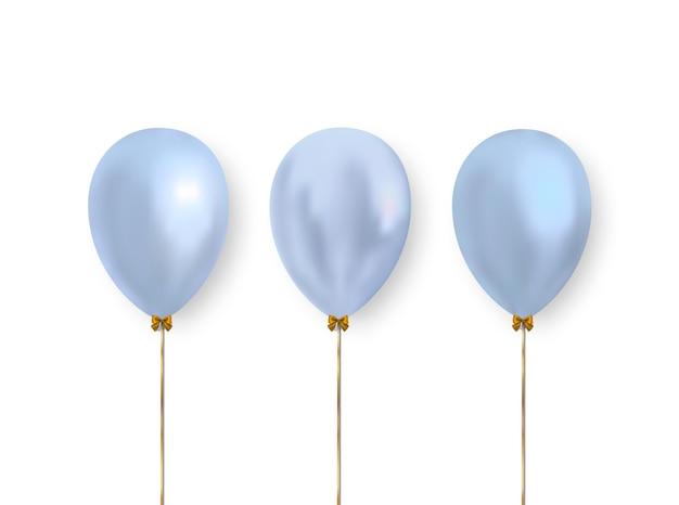 Simpatici palloncini blu pastello