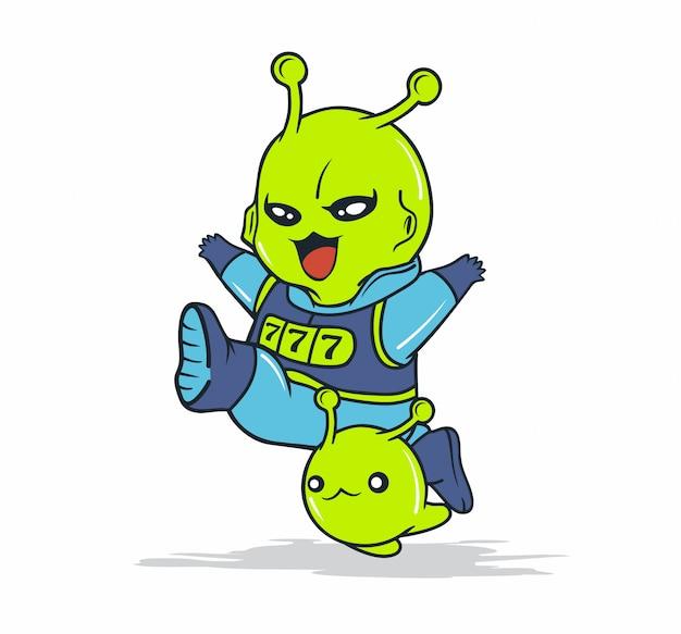 Simpatici personaggi alieni fortunati