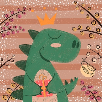 Simpatici personaggi di dinosauro