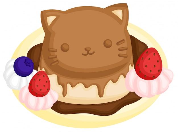Simpatico budino di gatto