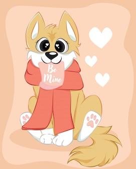Simpatico cagnolino corgi essere il mio personaggio d'amore
