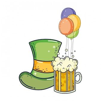 Simpatico cappello leprechaun con birra