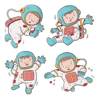 Simpatico cartone animato astronauta