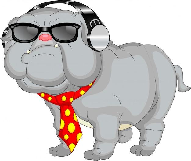 Simpatico cartone animato bulldog inglese