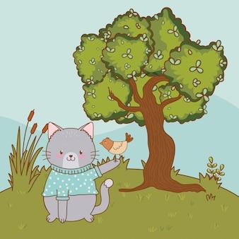 Simpatico cartone animato di animali piccoli
