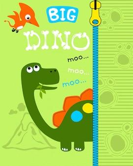 Simpatico cartone animato di dinosauri