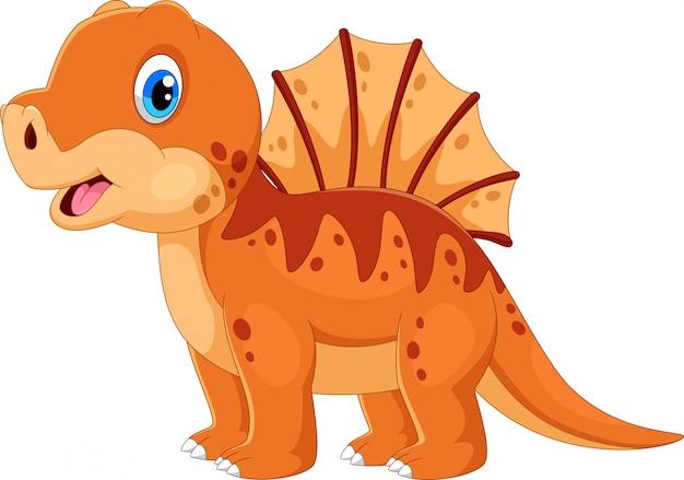 Simpatico cartone animato di dinosauro bambino