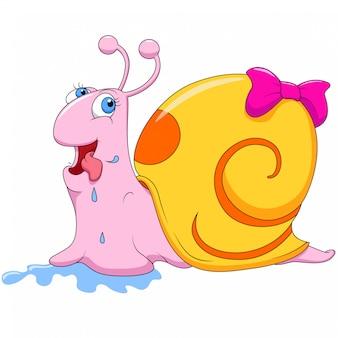 Simpatico cartone animato di lumaca