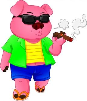 Simpatico cartone animato di maiale