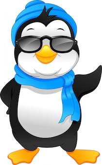Simpatico cartone animato di pinguino