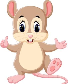 Simpatico cartone animato di topo