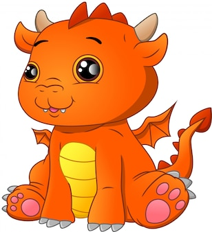 Simpatico cartone animato drago bambino