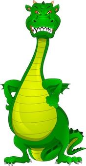Simpatico cartone animato drago